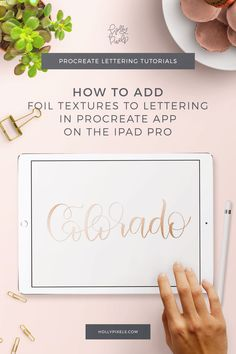 Ever wonder how to add gold foil textures to your brush lettering in Procreate? Who doesn't love gorgeous gold foil art prints? They are all the rage on Etsy.