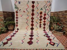 elegant carpet azilal rug great texture by moroccowool on Etsy