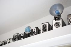 not just a vintage camera collection, a vintage dual lens camera collection and blue flashbulbs.  Like!