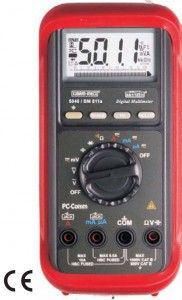 KM 5040 KM 5040 T-DIGITAL MULTIMETER WITH ANALOG BAR GRAPH & RS 232 COMPUTER INTERFACE • Auto lead zero function • 50ms record MAX-MIN readings at fast 20/second measurement mode • 0.8ms Crest (instantaneous Peak-HOLD) • Data Hold & Range- Hold • Backlighted Display • Autoranging • Audible & Visible input warning. • Optical isolated RS232 PC-interface capabilities • MAX-MIN readings