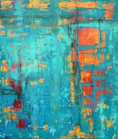 A Window to the Soul Gina Marie Dunn Fine Art Blue Orange complementary colors abstract painting Art Painting abstract art diy acrylic. Painting idea ideas for walls kitchen cabinets flowers Modern Art, Contemporary Art, Encaustic Art, Painting Inspiration, Colour Inspiration, Painting & Drawing, Watercolor Painting, Amazing Art, Cool Art