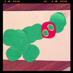 Very hungry caterpillar craft with my 18-month-old son. His first craft!