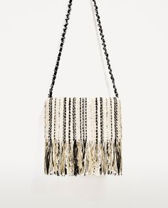FRINGED FABRIC CROSSBODY BAG - Available in more colours
