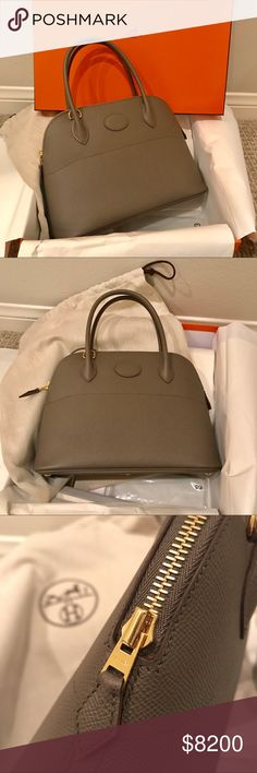 Hermes Bolide 27 Etain Epsom Leather GHW *New* Brand new gorgeous Bolide. Size 27 with Gold Hardware!!!!!  💯% Authentic. Comes with all the original parts, box, ribbon, paper bag and copy of receipt. Stamp A Hermes Bags Shoulder Bags