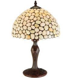 """Meyda 19""""H Agata Opal Table Lamp"""