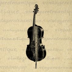 Cello Printable Image Download Music by VintageRetroAntique