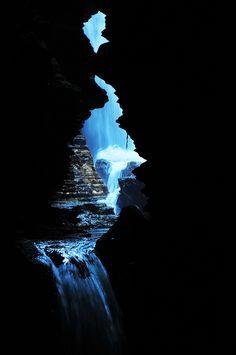 Pokhara, Nepal: Devis Fall, From inside Mahendra Cave www.grgadventurekayaking.com