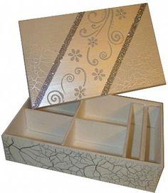 Porta - Jóias branco texturizado (com interior flocado) | por Belle Arti DaLila