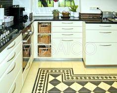 So könnte Ihre Küche aussehen: Zementfliesen für Böden ✓ Zementfliesen für Wände ✓ Zeitlose Handarbeit ► Inspiration Küchen-Zementfliesen!