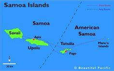 map of the samoa islands