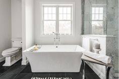 Modern Grey and White Master Bathroom Suite