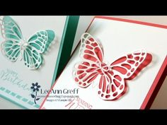 cardmaking video tutorial: Simply Elegant Butterfly card ... by LeeAnnGrreff ... gorgeous and easy to do!