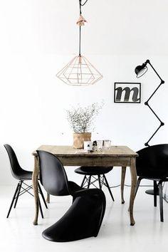 Zwarte stoelen mix