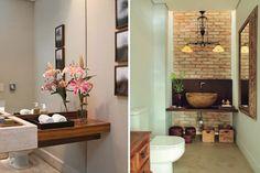 lavabo com decoração moderna
