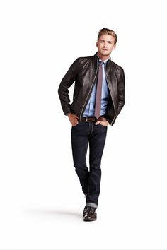 Ferdi Leather Jacket part of Tommy Hilfiger Tailored: A timeless collection of perfect cuts, fits and fabrics.