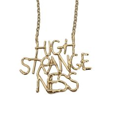 High Strangeness – Nameplate Necklace