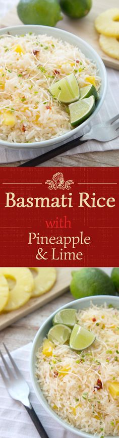 This makes for a delicate, light, and refreshing side dish for your barbecue this weekend! Simply mix sliced pineapple and sprouts into your Basmati rice, and top with a squeeze of lime.