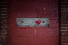 Arrow Through The Heart. 9.5 x 31 Wood Pallet Art by MeAtMyWerd