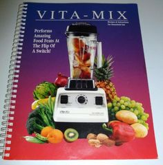 Vitamix-Recipe-Book-Instructions-Household-Use-Smoothie-Blender-Health-Food-Baby