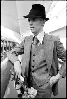 David Bowie March 1976, by Andrew Kent Bowie on the SS Leonardo da Vinci about to set sail from New York for the Station to Station European tour.