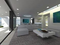Living room in new modern villa in Lagos Algarve