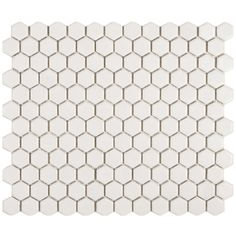 Somertile Victorian Hex Matte White Porcelain Mosaic Tiles (Pack of 10) | Overstock.com