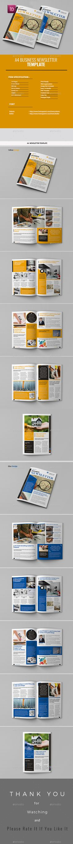 Clean Business Newsletter - 24 Pages | Print Templates, Cleaning