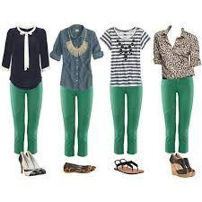 Resultado de imagem para calça verde bandeira feminina