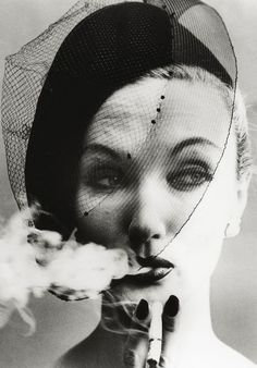 Barbara Mullen, William Klein  Smoke and Veil, Paris (for Vogue), 1958