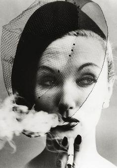 william klein's smoke and veil, 1958. (july 2014)