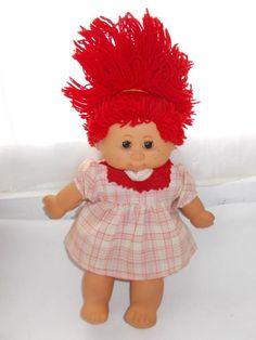 Vintage Mi BeBe My Baby Doll B B Made in Spain Red Hair Freckles Eyes Open Close #Dolls