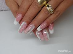 modern french nails Tips French Nail Designs, Creative Nail Designs, Best Nail Art Designs, Beautiful Nail Designs, Creative Nails, French Nails, French Manicure Nails, Great Nails, Cute Nails