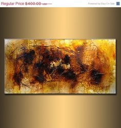 ORIGINAL Abstract Painting Contemporary by newwaveartgallery, $360.00