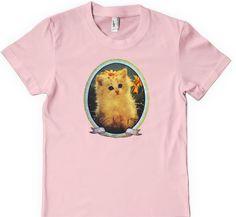 Hipster cat shirt