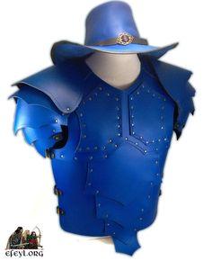 Encargo especial. Armadura Dragón y Sombrero Van Helsing en color azul.  #armor #armadura #medieval #efeyl #fantasy #larp #rev #blue #leather #cosplay #cosplayaccesories #reenactment #historical #military #vestuario #disfraz #larpcostume #fantasyarmor #fantasycostume #dragonarmor #leatherarmor #bluearmor #bluehat