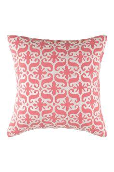 "Printed Pillow - 18"" x 18"" - Pink"