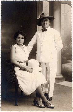 Héléne Adam / vanclooster et son mari Maurice vanclooster.