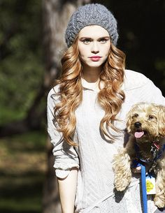 holland roden: her hair is even perfect in a beanie:0