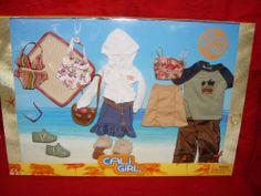 2003 Barbie And Ken Cali Girl Fashion Set