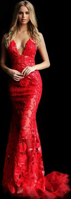 Simply Red, My Favorite Color, Red Things, Formal Dresses, How To Wear, Amazing, Fashion, Red, Color