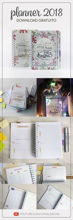 Planner 2019 Minimalista – baixe e imprima Planner 2018, Agenda Planner, Life Planner, Happy Planner, Diy Agenda, Planner Diy, Planner Template, Printable Planner, Planner Stickers