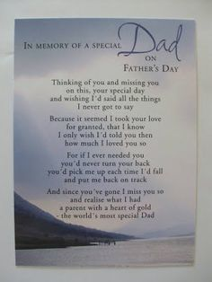 poem for dad in heaven | Most of all hoping no matter where you are today that you have a ...