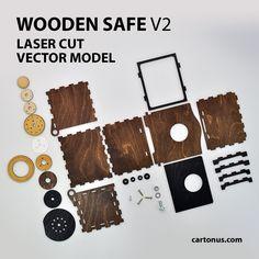 Wooden SAFE. Version 2.0  Vector model / project plan for laser cutting.  http://cartonus.com/safe-of-plywood/  Ready for laser cut and laser engraving.  Project plan