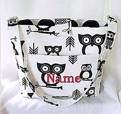 Purse Tote Bag Fabric Handmade Tote Custom by RidgeTopEmbroidery, $32.00  ME