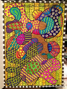 Marina's piece of paper ...: Play with colors, shapes and patterns.