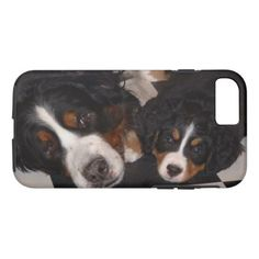 Bernese Mountain Dog and Puppy iPhone 8/7 Case - dog puppy dogs doggy pup hound love pet best friend