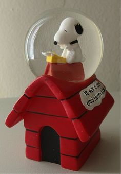 Snoopy Glitter Globe Worlds Greatest Author Item Number 8226 Westland Giftware