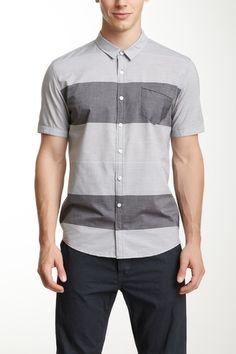 Short Sleeve Woven Pocket Shirt by Z.A.K.