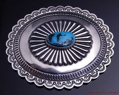 Cippy-Crazyhorse-Navajo-Blue-Diamond-Turquoise-Silver-Concho-Belt-Buckle-4