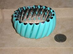 Vintage Stretch Bracelet Faux Turquoise 1950's Jewelry 50 on Etsy, $15.00